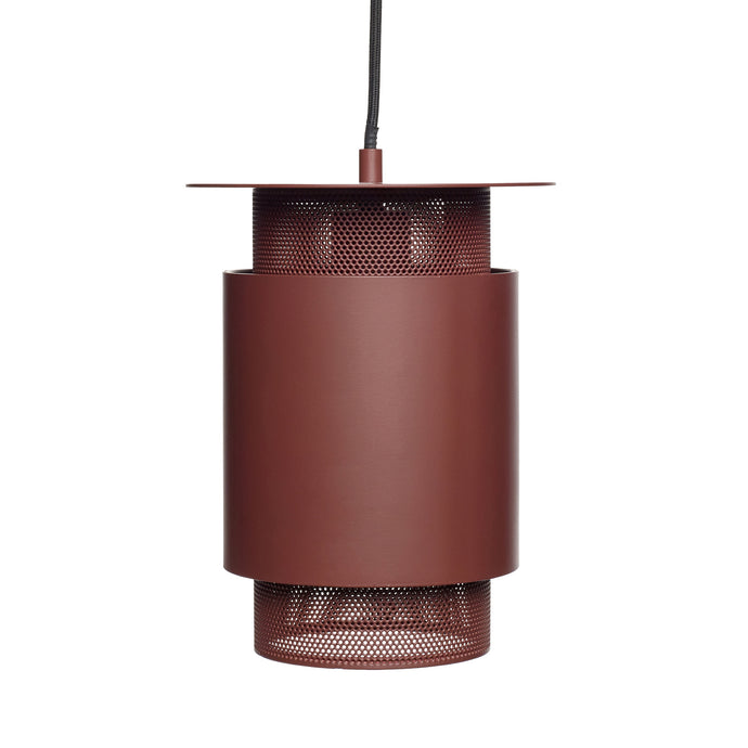 Hubsch-Red-Metal-lamp-Mesh-Light-Monpote