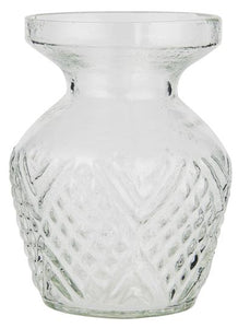 Patterned Glass Posy Vase with Edge