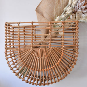 Bloomingville Wall Mounted Rattan Basket