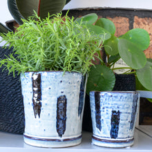 Load image into Gallery viewer, bloomingville-blue-dash-planter