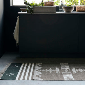 Coto Rug From House Doctor in Black and Brown 90 x 120cm