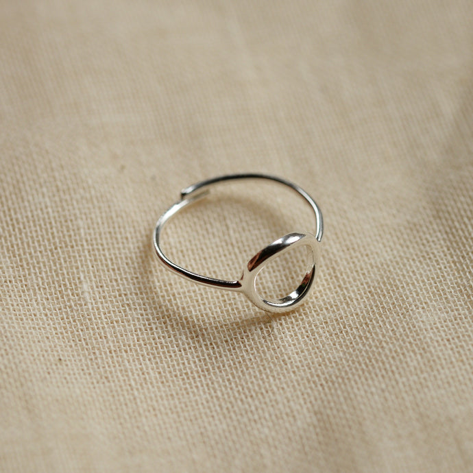 Lulu Circle Silver Plated Stacking Ring