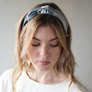 Grey and Stone Palm Knot Headband