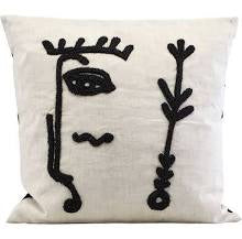 Load image into Gallery viewer, house-doctor-ingo-abstract-face-cushion