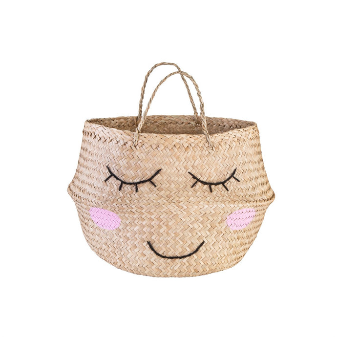 Sweet Dreams Smiley Face Belly Basket
