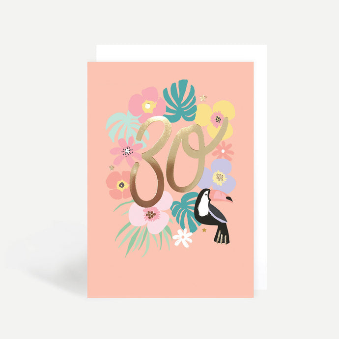 30th Birthday Toucan Gold Foil