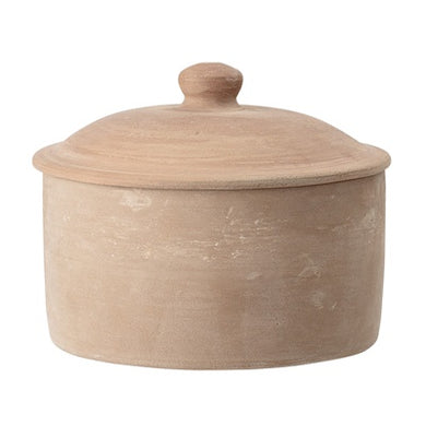 Bloomingville Terracotta Storage Jar With Lid