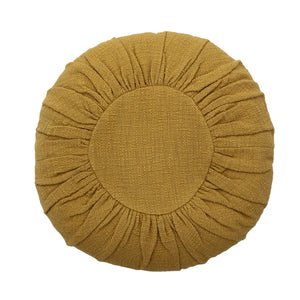 bloomingville-round-yellow-cushion