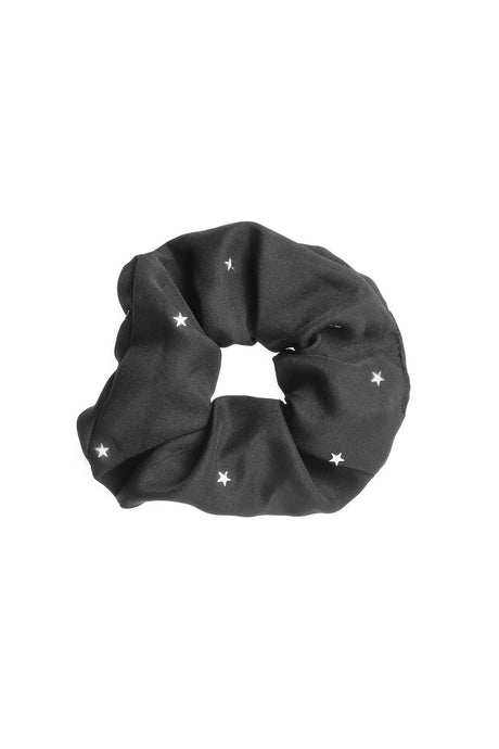 Black and White Cosmic Star Print Scrunchie