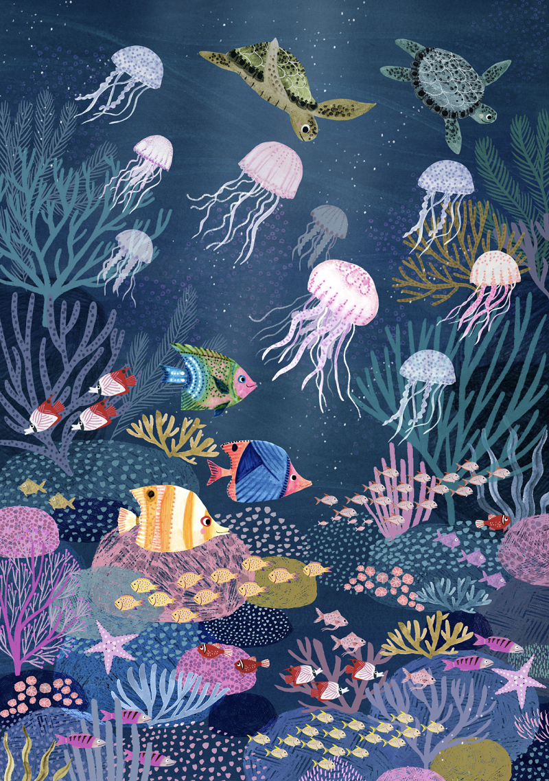 Petit Monkey Coral Reef Poster