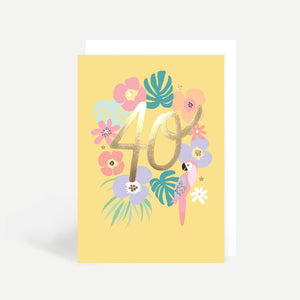 40th Birthday Parrot Gold Foil