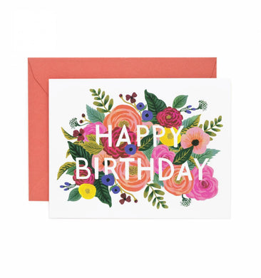 Juliet Rose Happy Birthday Card