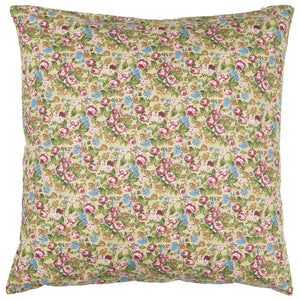 Ditsy Light Brown Floral Rose Cushion Cover with Optional Inner
