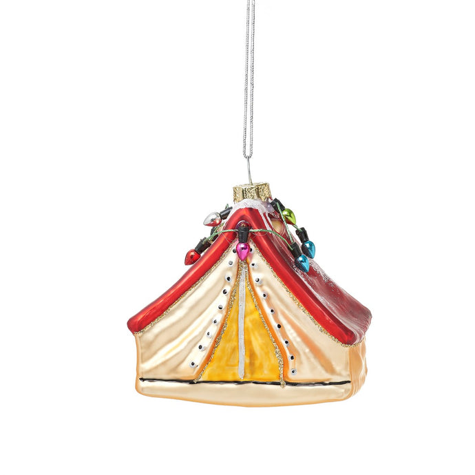 Tent Shaped Glass Bauble Decoration