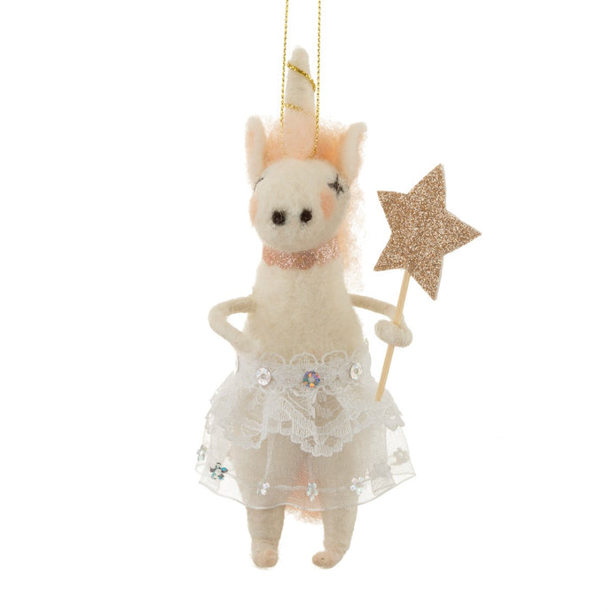 Sass And Belle Tutu Unicorn Felt Hanging Decoration