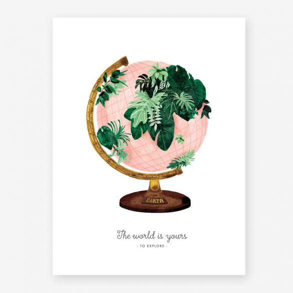 All The Ways To Say Globe Print Small
