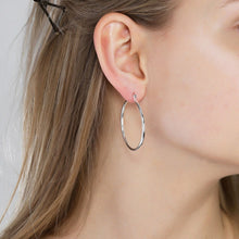 Load image into Gallery viewer, Layla Silver Plated Hoop Earrings