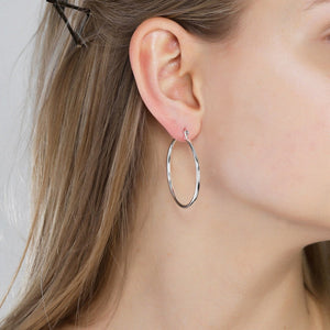Layla Silver Plated Hoop Earrings