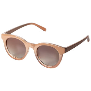 Tamara Light Brown Frame Sunglasses with Round Lenses