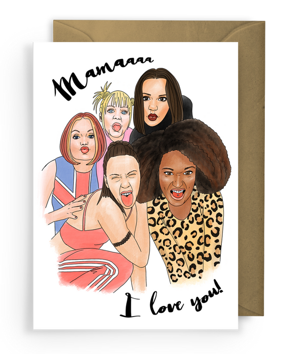 Spice girls card Mother's Day mum greeting card