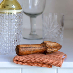 Oiled Acacia Wood Lemon Squeezer