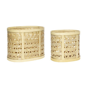 Hubsch Bamboo Basket (Choice Of Two)