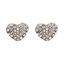 Load image into Gallery viewer, Pilgrim-Mathilde Diamante Heart Stud Earrings