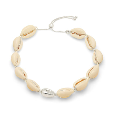 Pilgrim Aki Cowrie Shell Silver Anklet