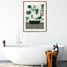 Load image into Gallery viewer, Bathtub and Plants Print (Choice of two sizes)
