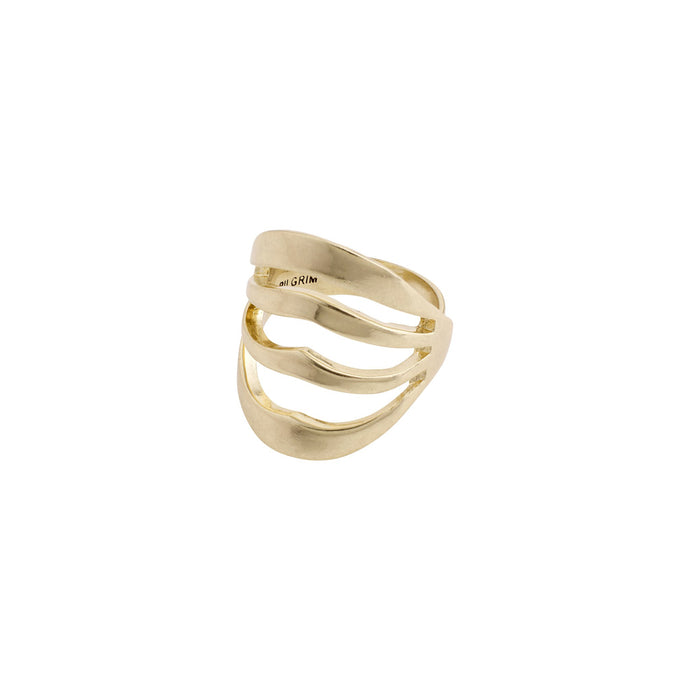 Bellona Gold Plated Statement Ring