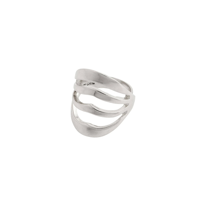 Bellona Silver Plated Statement Ring