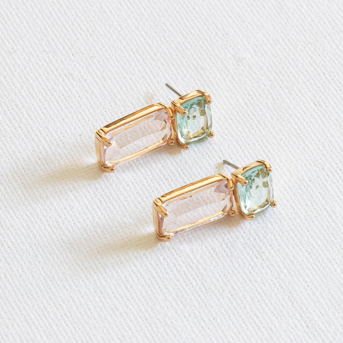 Big-Metal-London-Green-and-Pink-Kim-Hand-Cut-Stone-Luxe-Demi-Fine-Drop-Earrings-Gold-Plated