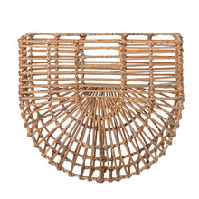Load image into Gallery viewer, bloomingville-wall-mounted-rattan-basket