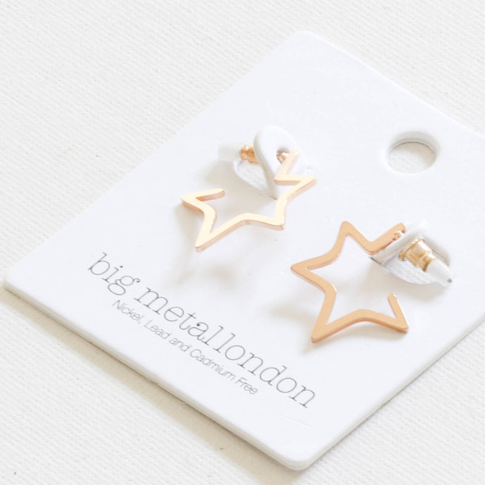 Chiarra Star Earrings in Gold