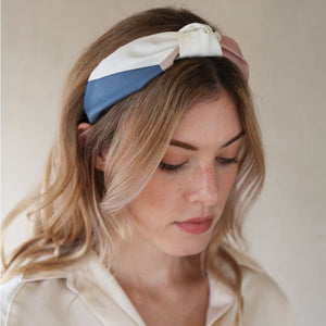 Colour Block Island Print Headband