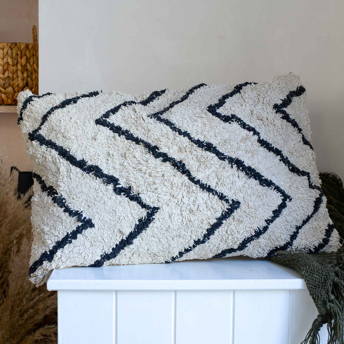 Cotton Zig Zag Cushion From HK Living