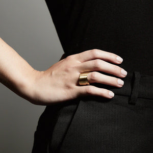 Cyrilla Gold Plated Statement Ring
