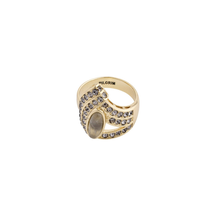 Delise Gold Plated Crystal and Stone Statement Ring