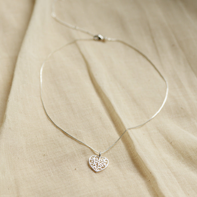 Felice Silver Plated Heart Pendant Necklace