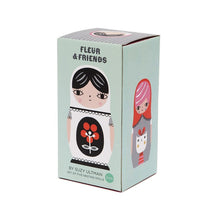 Load image into Gallery viewer, Fleur and Friends 5 Piece Nesting Dolls Set