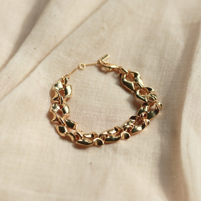 Hollis Gold Plated Chunky Link Bracelet