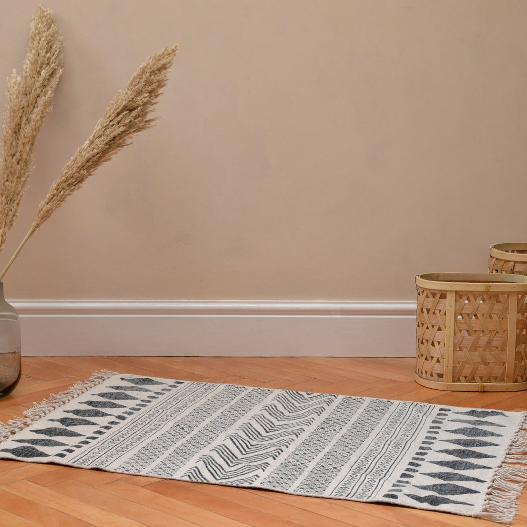 House Doctor Monochrome Woven Rug (Choice of three sizes)