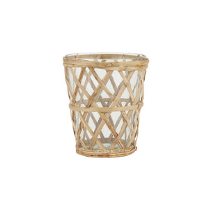 IB Laursen candle holder tealight bamboo braid