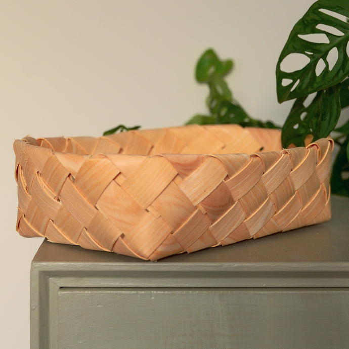 Natural Weaved Chip Wood Basket