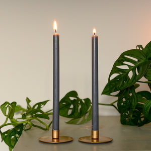 grey taper candle