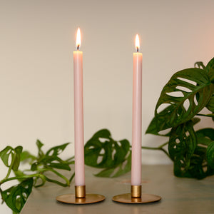 pink taper candle