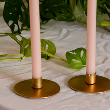 Load image into Gallery viewer, Round Mini Gold Taper Candle Holder