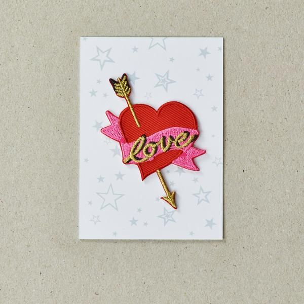 Petra Boase Iron On Love Heart With Arrow Patch
