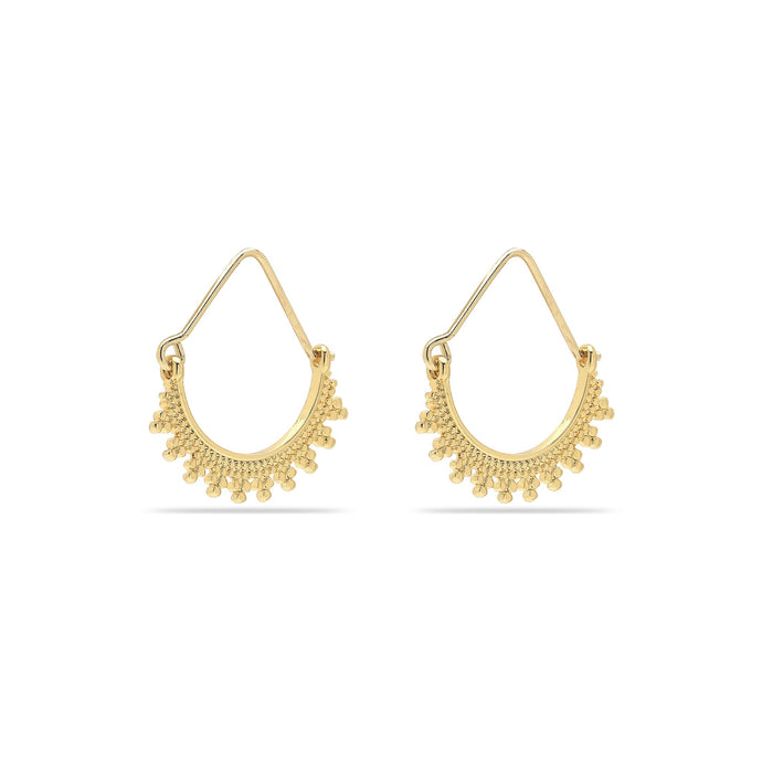 Kiku Half Ring Gold Plated Hoops