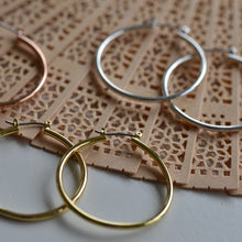 Load image into Gallery viewer, Layla Gold Plated Hoop Earrings